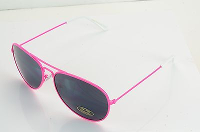 NEW AVIATORS SUNGLASSES WITH NEON COLORS RUBBER NOSE & EAR PIECES  (Rubber Neon Sunglasses)