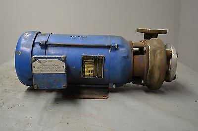 Goulds Centrifugal Pump Baldor 5 Hp Electric Pump 1 12 X 2 X 5 58  316 Ss