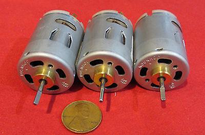 3 Pack - Johnson Electric Hc315mg 12v - 24v Dc Motor 9000 - 18000 Rpm Hobby