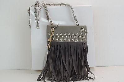 Womans STUDDED RHINESTONE FRINGE  Mini Messenger Bag Purse  HH415-6