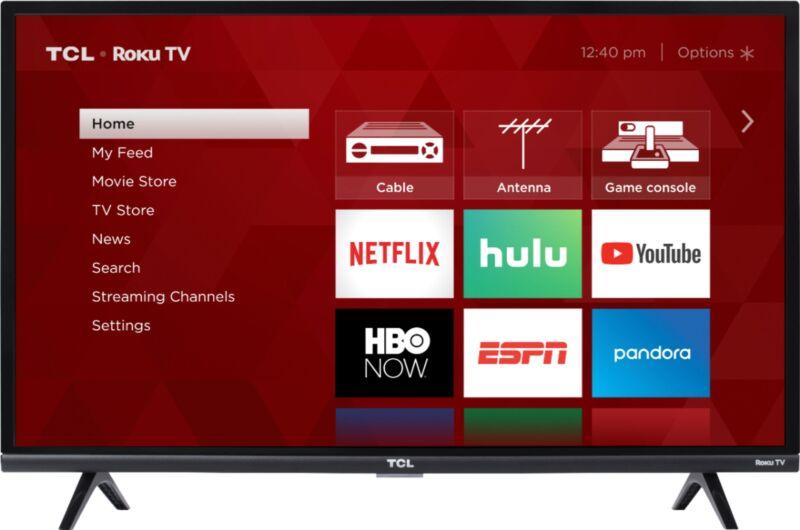 "TCL - 32"" Class 3-Series LED Full HD Smart Roku TV"