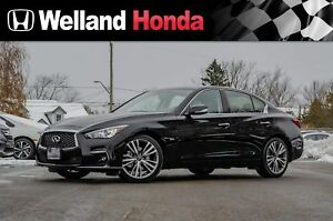 2019 Infiniti Q50s  ALL WHEEL DRIVE, LOW KM'S!! 3.0t Signature E