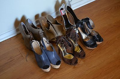 Lot of 6 Pairs High Heels Women Mixed Sizes Wholesale Resale