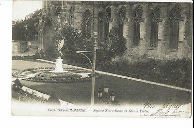 CPA - Carte postale -FRANCE - Châlon sur Marne  Square Notre Dame