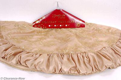 Gorgeous Gold Taffeta Christmas Tree Skirt 52