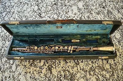 Very Rare H. Bettoney Silva-Bet Plateau Bb Clarinet with Original Case