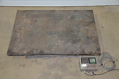 Toledo 2155 Low Profile 48x60 Platform Floor Scale 5000lb 8142 Indicator 120v