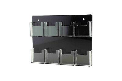 Vertical Business Card Holder 8 Pocket Gift Cards Organizer Wall Rack