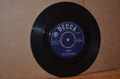 THE ROLLING STONES: COME ON & I WANT TO BE LOVED VG++ 1963 UK 45; THEIR 1ST 45