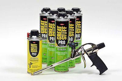 Dow Great Stuff Pro Pestblock Insulating Foam Kit With Foam Gun And Gun Cleaner