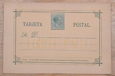 MayfairStamps Habana 2 Cents Famous Person Yellow Trim Mint Stationery Card wwo7