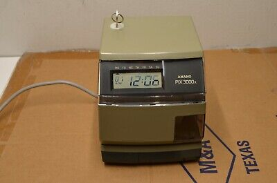 Amano Pix-3000x Electronic Time Recorder Clock