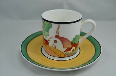 LTD  EDITION WEDGWOOD CLARICE CLIFF CAFE CHIC COFFEE CUP AND SAUCER BROOKFIELDS Wedgwood Cafe