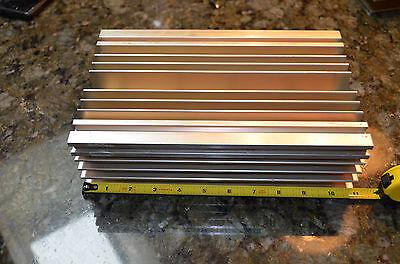 Large Reclaimed Extruded Aluminum Heatsink 11x6.75x3.1 Audio Amp Heavy Weight