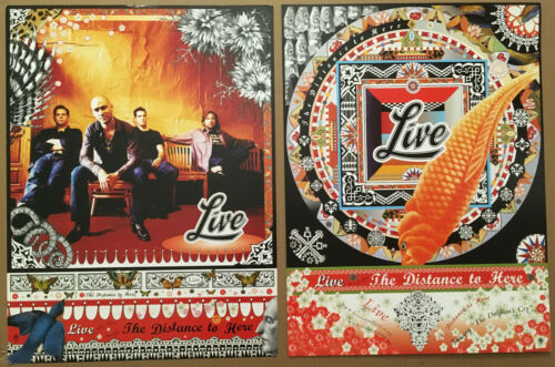 Ed Kowalczyk LIVE 1999 DOUBLE SIDED Card Stock Paper PROMO POSTER of Distance CD