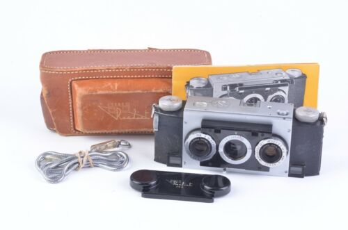 EXC++ REALIST STEREO CAMERA w/F2.8 LENS, CASE, MANUAL, STRAP, CAP, WORKS!!!