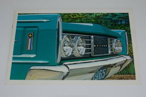 """1965 Mercury Meteor Montcalm Car Sales Brochure Original 14"""" x 9"""" 16 page Canada"""