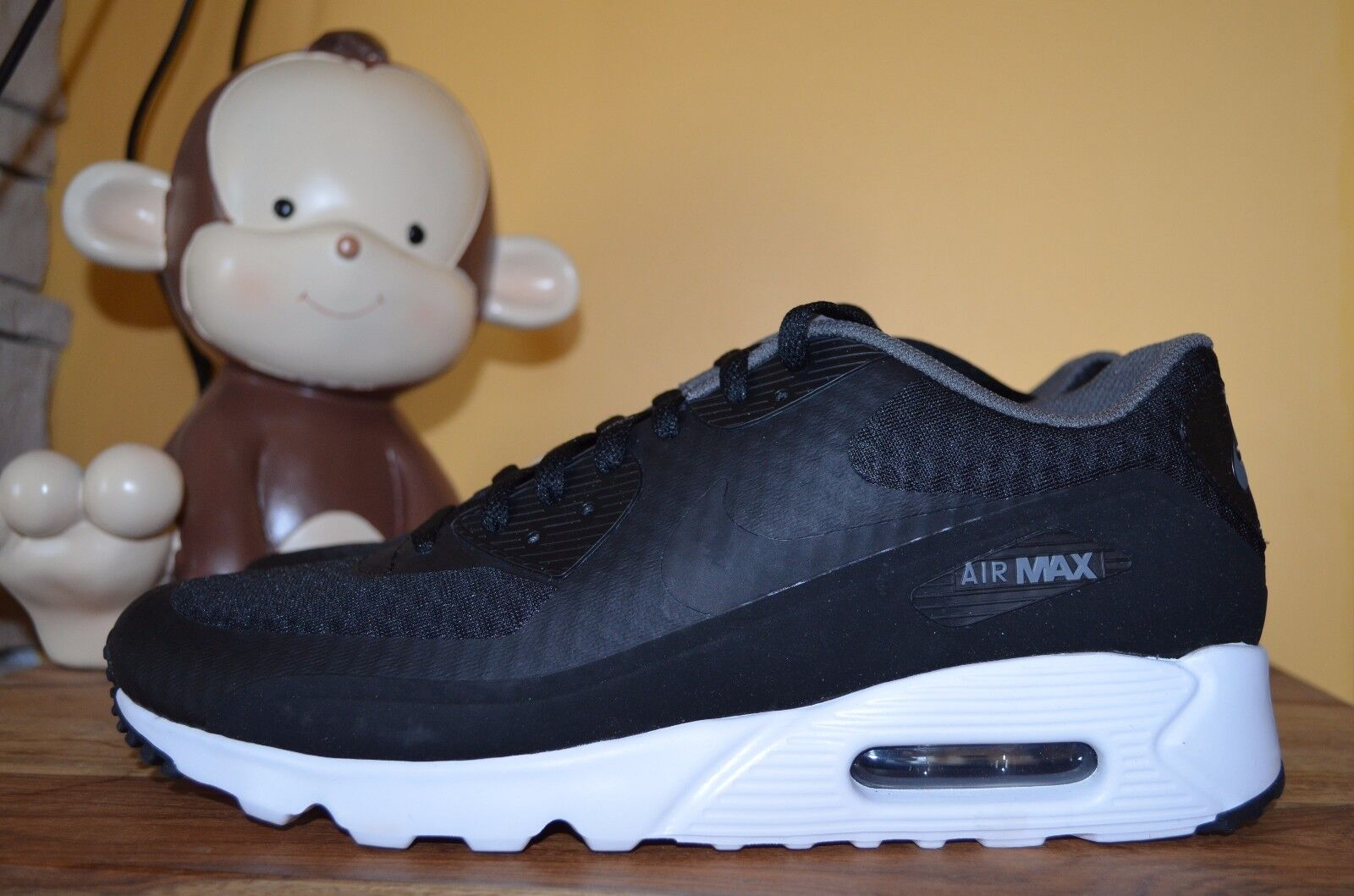 innovative design 7c6a5 15d45 NEW NIKE AIR MAX 90 ULTRA ESSENTIAL Trainers SZ 10 - 11.5 Black/White  819474-013