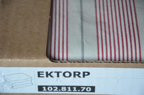 NEU EKTORP Hocker Bezug MOBACKA BEIGE ROT gestreift 102.811.70 IKEA Sofa cover
