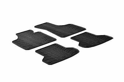 All Weather Rubber Floor Mats fits 2006 2012 Audi A3   4 Piece Set   Black