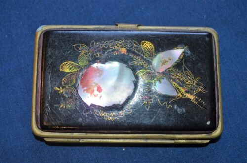 Paris Made Vintage Mother of Pearl & Leather Coin Purse