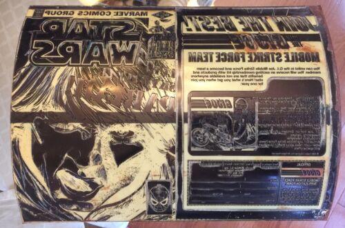 1982 STAR WARS MARVEL 62 ORIGINAL COMIC COVER ART PRINTING PLATE Walter Simonson