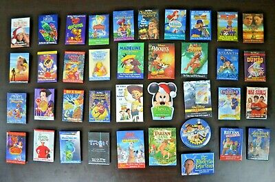 Lot of 38 Different Vintage Disney Movie Button Pins Advertising Pinbacks -90s