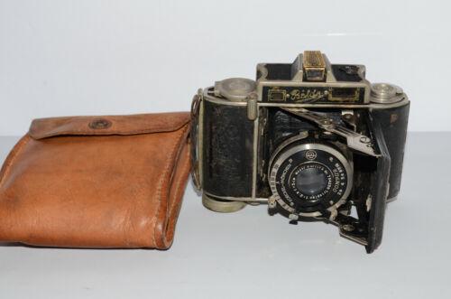 "Rare ""SUPER BALDA"" Baldina Range Finder Camera (Folding Bellow) w/ Leather Case"