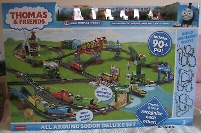 THOMAS & FRIENDS ALL AROUND SODOR DELUXE SET WITH THE STEAM TEAM SOLD OUT NEW !!