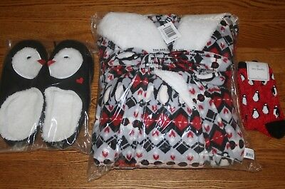 NWT Vera Bradley FLEECE HOODED ROBE AND/OR MATCHING SLIPPERS soft cozy plush HTF (Cozy Robe)