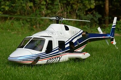 Bell 222 RTF (600) T Rex 550X Futaba T14SG + Autopilot Axon Ready to Fly Scale