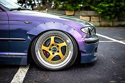pon retro Fender Flares wide body kit Steel Fit for BMW E46,sedan,coupe,Touring