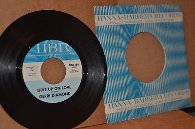 GERRI DIAMOND: GIVE UP ON LOVE & MAMA YOU FORGOT; MINT- NORTHERN SOUL 45 RPM