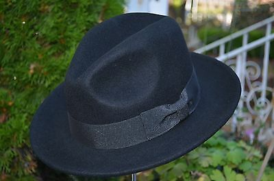 Wool Crushable Indiana jones Cowboy Fedora Safari Dress Wide Brim Hat Cap