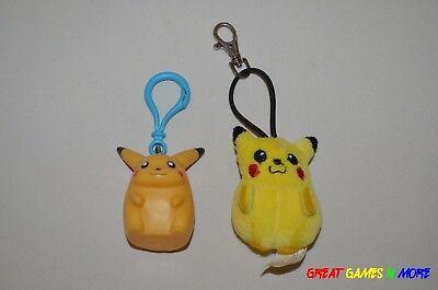 (2) Pokemon Pikachu Keychain Backpack Clip Plush - Applause Berkshire Fashions