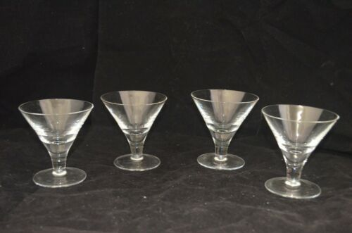 "VINTAGE Retro Short Martini Glasses - Set of 4 -  3 1/2""H"