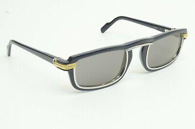 Authentic Cartier Sunglasses Vertigo 54 25 135 Navy Frame Silver Rim Louis YG WG