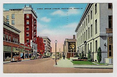 Pocatello Idaho North Arthur Avenue Posted 1940