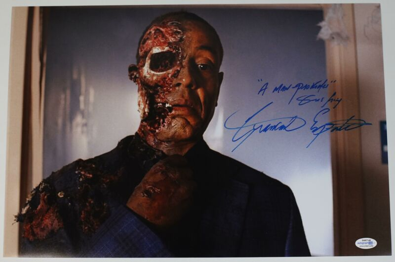 """Giancarlo Esposito """"Breaking Bad"""" AUTOGRAPH Signed 'Gus Fring' 12x18 Photo B"""