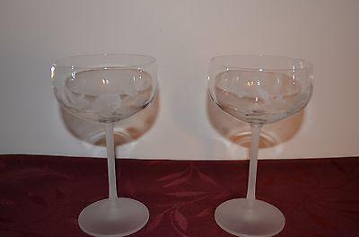 AVON HUMMINGBIRD SET OF CHAMPAGNE GLASSES - NEW