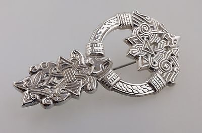 alte Original Kalevala Koru Brosche Anstecknadel Silber Finnland Brooche Silver