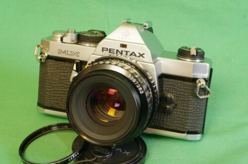 Pentax MX SLR 35mm Film Camera & Pentax A 50mm f/2 lens New light seals