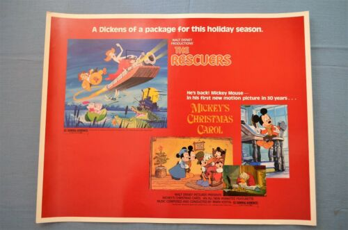 """Vintage Movie Poster,  Walt Disney Pictures, """"The Rescuers"""" (1972)"""