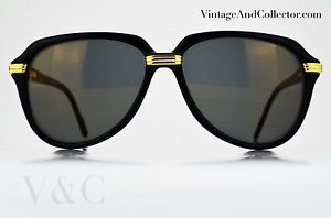 ddb1bfb5aeed1 Sunglasses Cartier Vitesse Vintage Black Color NOS Very Rare News Kanye West