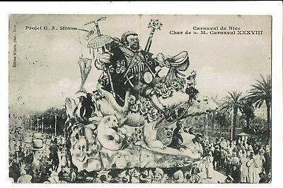 CPA-Carte postale- France -Nice-Son Carnaval-Char de Mr Carnaval -1910- S4235