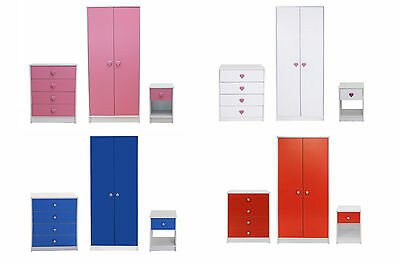 Kids Bedroom Wardrobe Furniture Set Childrens Playroom Children Storage -8435