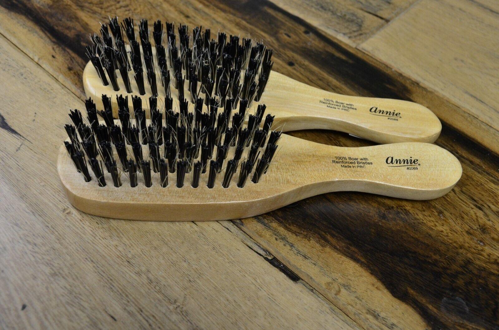 Annie Mini Wave Brush Hard Bristles 100% Boar Hair Styling C