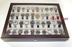 40-Watch-Premium-Series-1-Level-Ebony-Display-Storage-Case-Box-Gift