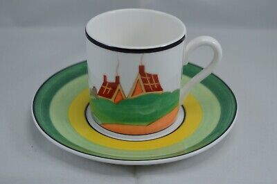 LTD  EDITION WEDGWOOD CLARICE CLIFF CAFE CHIC COFFEE CUP AND SAUCER - SECRETS Wedgwood Cafe