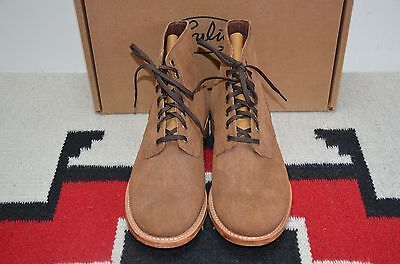 Julian Boots Made In Usa Tobacco Suede Leather Field Ankle Boots